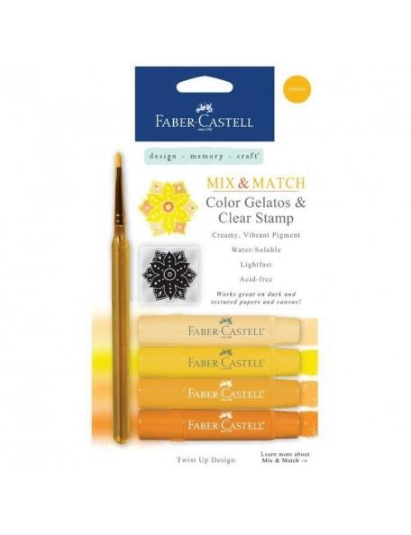 Faber-Castell Mix & Match Gelatos & Stamp Kit-Yellow