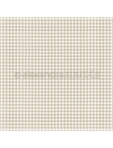 Alexandra Renke Cardstock de una cara 30,5x30,5 cm, Küchenkaro Schlamm