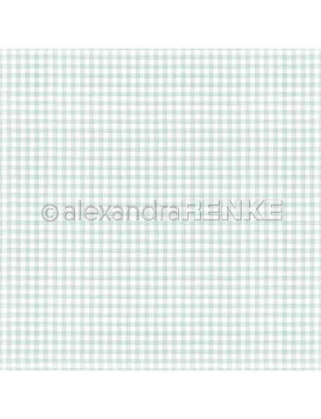 Alexandra Renke Cardstock de una cara 30,5x30,5 cm, Küchenkaro Grünblau'
