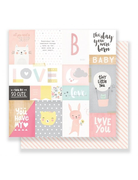 "Crate Paper Little You Cardstock de doble cara 12""X12"", My Sunshine"