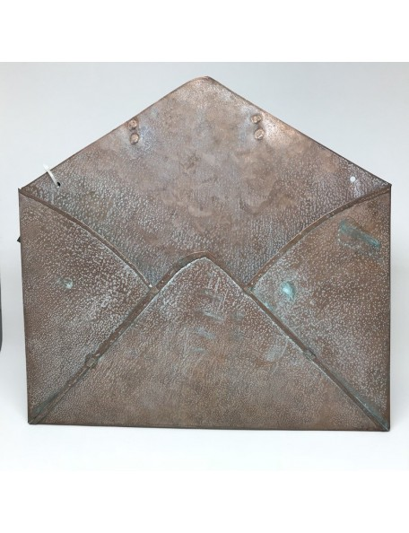 "Copper Patina Metal Envelope 9""X10"""