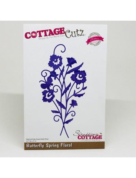 """CottageCutz Elites Die, Butterfly Spring Floral 3.3""""X3"""""""