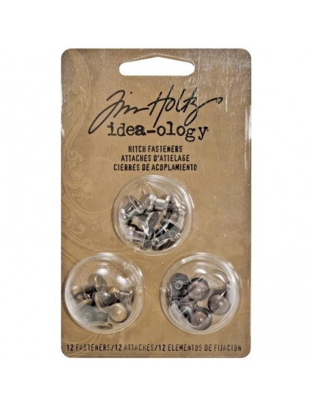 "Tim Holz Idea-Ology 2-Part Hitch Fasteners .375"" 12, Antique Nickel, Brass & Copper"