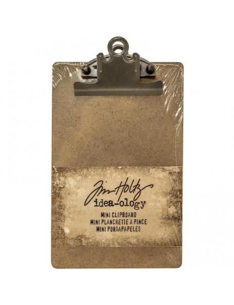 "Tim Holz Idea-Ology Mini Clipboard, Brown 4.5""X7.75"""