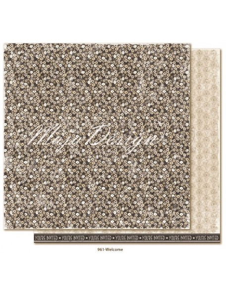 "Maja Design Celebration Cardstock de doble cara 12""x12"", Welcome"