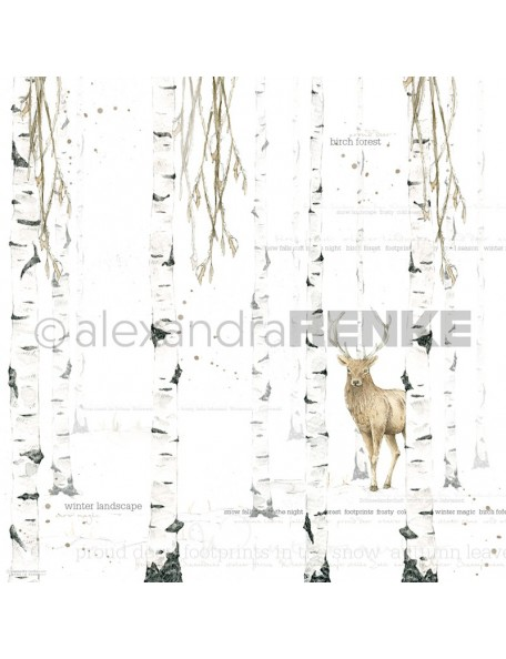 Alexandra Renke Cardstock de una cara 30,5x30,5 cm, Aquarell Birkenwald international