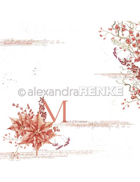 Alexandra Renke Cardstock de una cara 30,5x30,5 cm, Merry Christmas