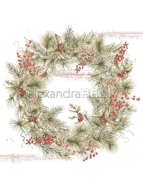 Alexandra Renke Cardstock de una cara 30,5x30,5 cm, Tannenkranz