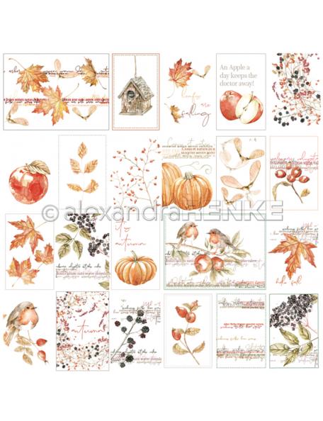 Alexandra Renke Cardstock de una cara 30,5x30,5 cm, Kärtchenbogen Tiffis Herbstpflanzen