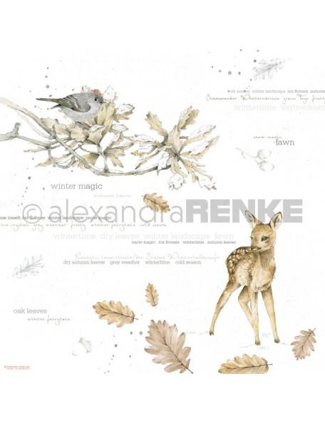 Alexandra Renke Cardstock de una cara 30,5x30,5 cm, Aquarell Rehkitz international