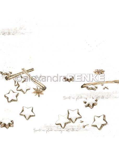 Alexandra Renke Cardstock de una cara 30,5x30,5 cm, Zimtsterne