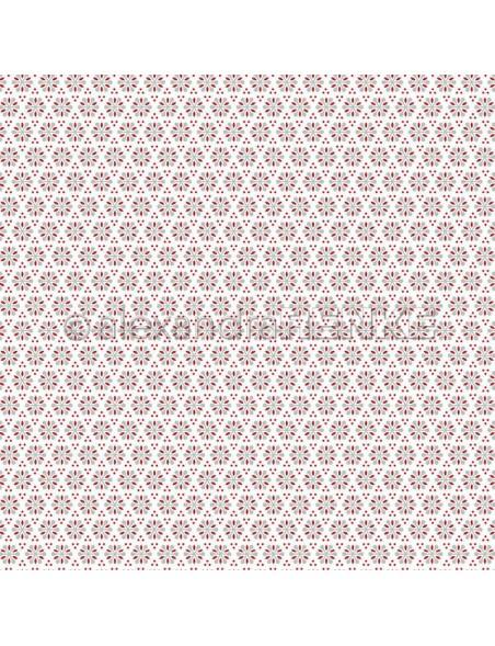 Alexandra Renke Cardstock de una cara 30,5x30,5 cm, Rote Schneeblumen Muster
