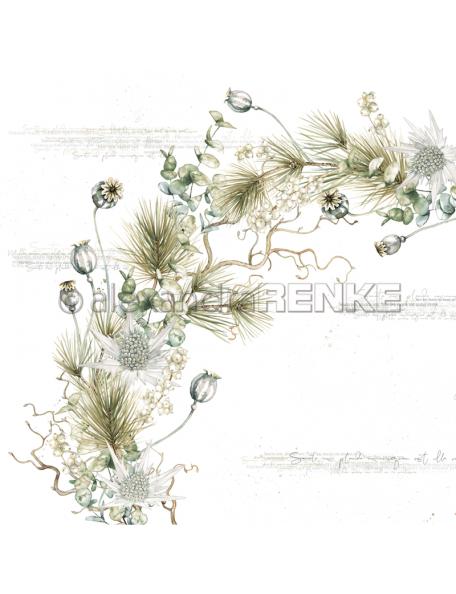 Alexandra Renke Cardstock de una cara 30,5x30,5 cm, Mohn Eukalyptuskranz