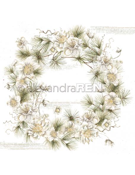 Alexandra Renke Cardstock de una cara 30,5x30,5 cm, Christrosenkranz