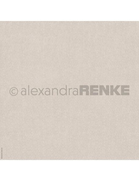 Alexandra Renke Cardstock de una cara 30,5x30,5 cm, Hellbraun gestrickt