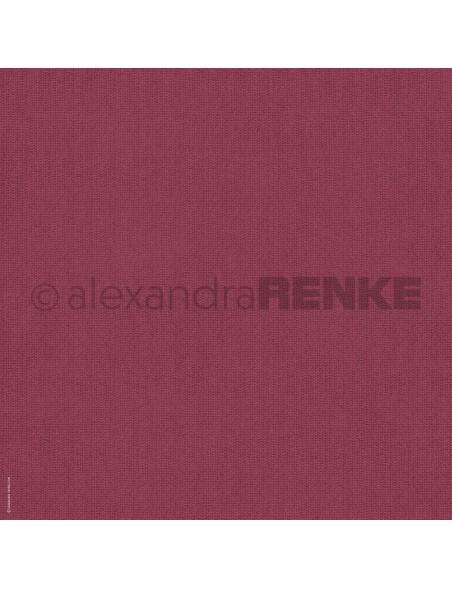 Alexandra Renke Cardstock de una cara 30,5x30,5 cm, Rot gestrickt