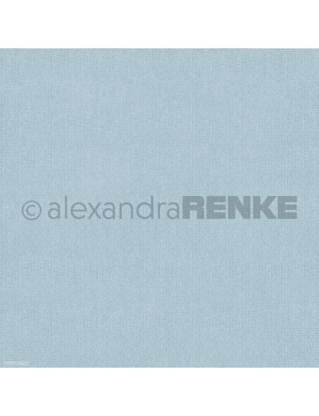 Alexandra Renke Cardstock de una cara 30,5x30,5 cm, Bleu gestrickt