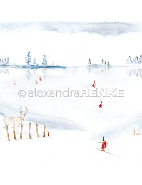 Alexandra Renke Cardstock de una cara 30,5x30,5 cm, Wichtel auf dem See
