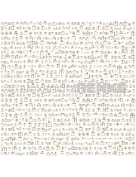 Alexandra Renke Cardstock de una cara 30,5x30,5 cm, Geschenke Gold
