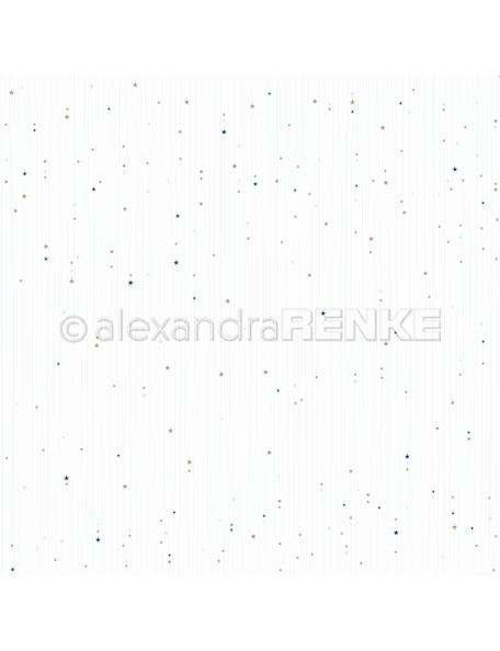 Alexandra Renke Cardstock de una cara 30,5x30,5 cm, Sternenstreifen eisblau