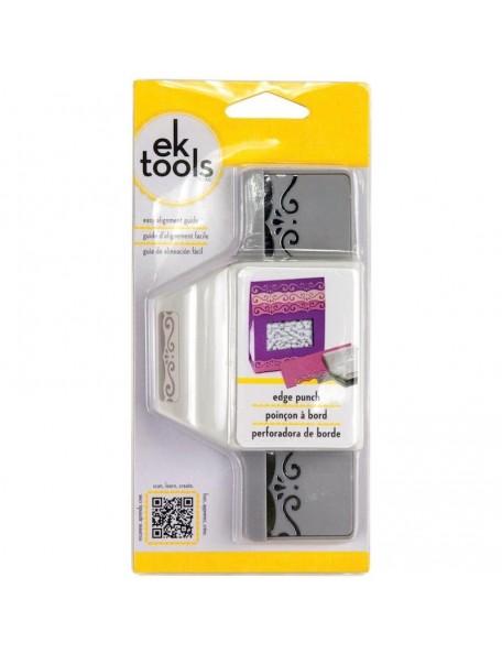 "EK Success Edge Punch-Elegant Flourish Scroll, 2""X1"""