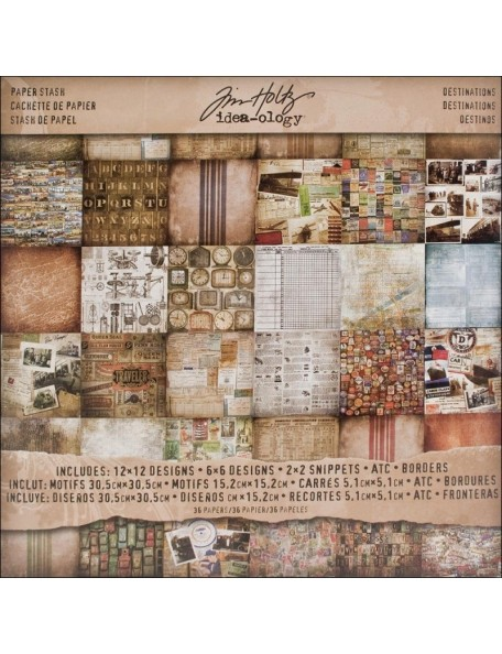 Tim Holtz Advantus Corporation Destinatns-Paper Stash 12X12