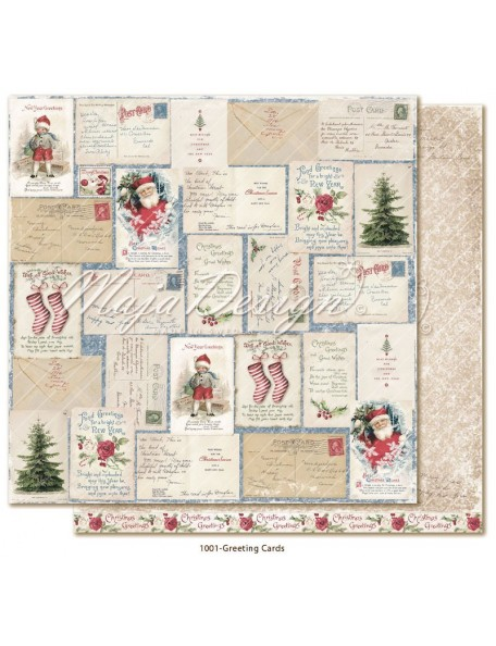 "Maja Design Christmas Season Cardstock de doble cara 12""x12"", Greeting Cards"
