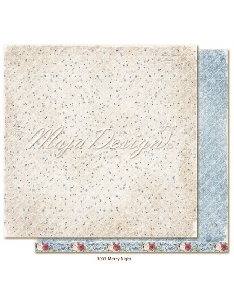 "Maja Design Christmas Season Cardstock de doble cara 12""x12"", Merry Night"