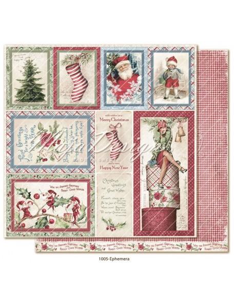 "Maja Design Christmas Season Cardstock de doble cara 12""x12"", Ephemera"