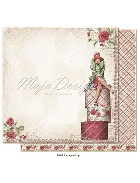 "Maja Design Christmas Season Cardstock de doble cara 12""x12"", All wrapped up"