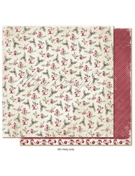 """Maja Design Christmas Season Cardstock de doble cara 12""""x12"""", Holly Jolly"""