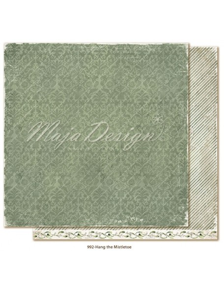 "Maja Design Christmas Season Cardstock de doble cara 12""x12"", Hang the Mistletoe"