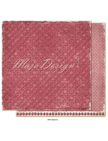 "Maja Design Christmas Season Cardstock de doble cara 12""x12"", Advent"