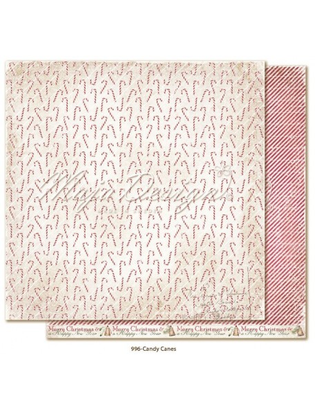 "Maja Design Christmas Season Cardstock de doble cara 12""x12"", Candy Canes"