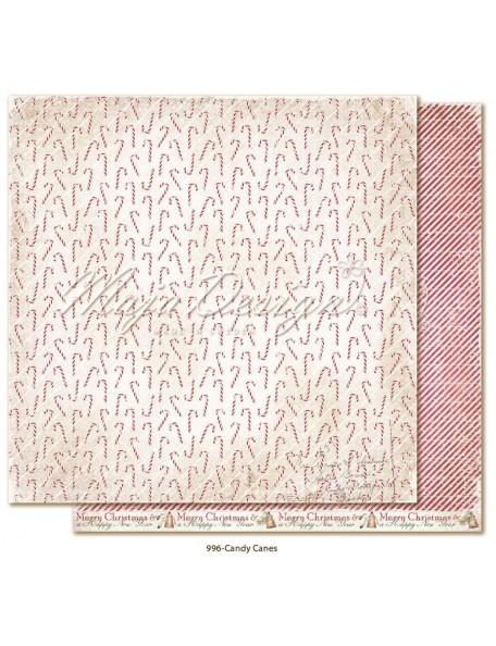 """Maja Design Christmas Season Cardstock de doble cara 12""""x12"""", Candy Canes"""
