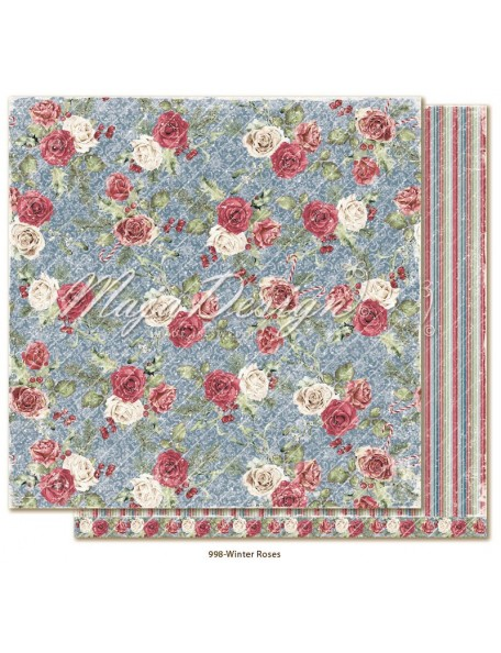 "Maja Design Christmas Season Cardstock de doble cara 12""x12"", Winter Roses"