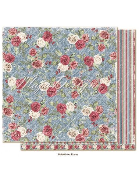 "Maja Design Christmas Season Cardstock de doble cara 12""x12"", Winter Roses"