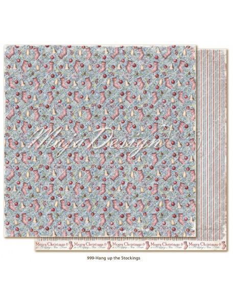 "Maja Design Christmas Season Cardstock de doble cara 12""x12"", Hang up the Stockings"