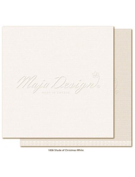 "Maja Design Monochromes Christmas Season Cardstock de doble cara 12""x12"", White"