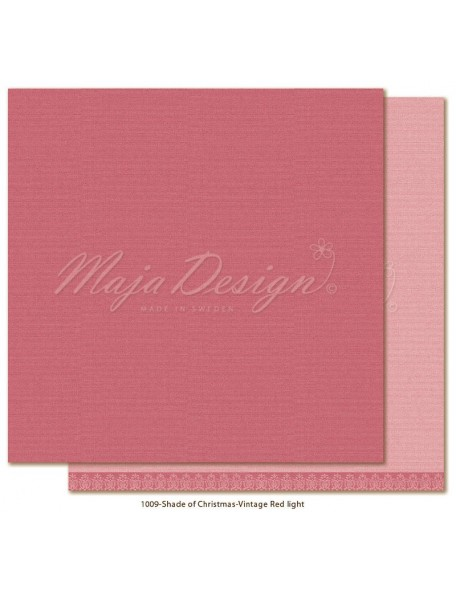 "Maja Design Monochromes Christmas Season Cardstock de doble cara 12""x12"", Vintage Red Light"