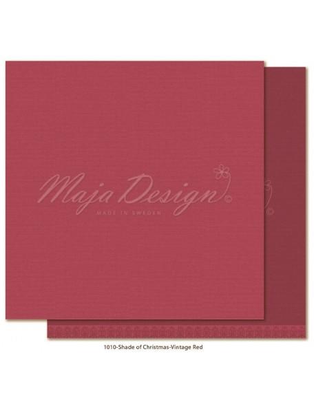 "Maja Design Monochromes Christmas Season Cardstock de doble cara 12""x12"", Vintage Red"