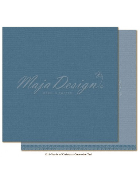 "Maja Design Monochromes Christmas Season Cardstock de doble cara 12""x12"", December Teal"