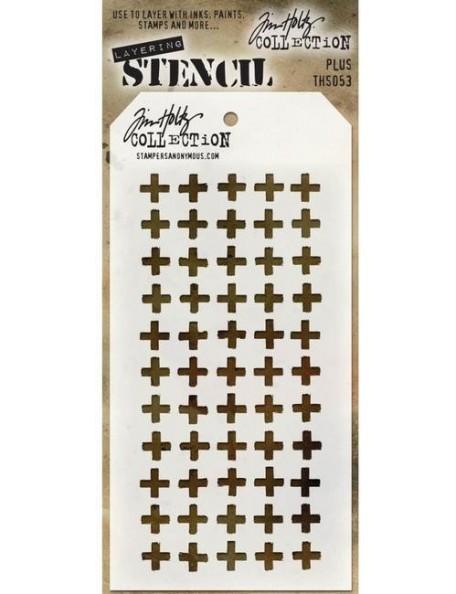 "Tim Holtz Layered Stencil 4.125""X8.5"", Plus"