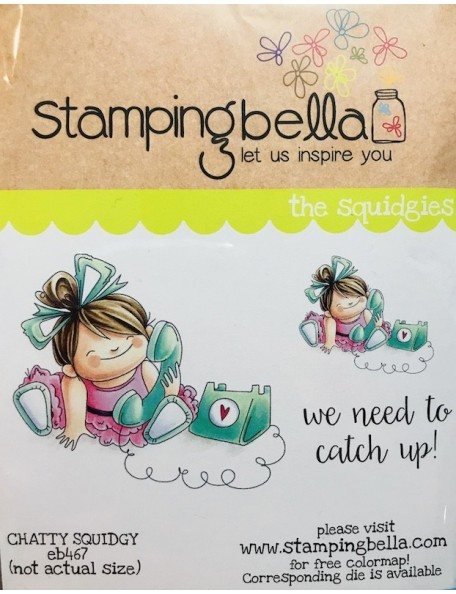 Stamping Bella Cling Stamps Chatty Squidgy