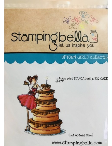 "Stamping Bella Cling Stamp 6.5""X4.5""-Uptown Girl Bianca Loves Her Big Cake"