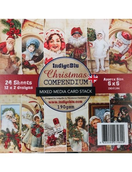 """IndigoBlu Cardstock de una cara 6""""X6"""" 24, Christmas"""