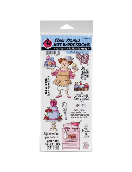 Art Impressions Work & Play Clear Stamps, Whisk It