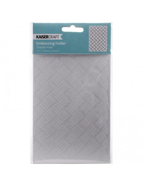 "Kaisercraft Embossing Folder 4""X6"", Checker Plate"
