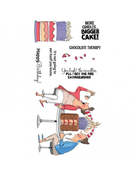 Art Impressions Clear Stamps, Chocolate Therapy