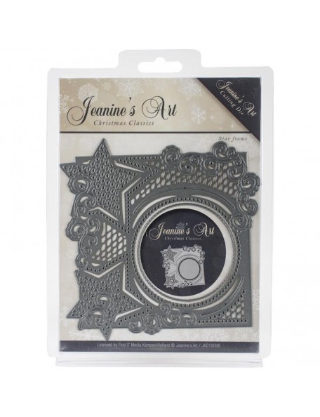 Jeanine's Art Christmas Classics Troquel, Christmas Star Frame